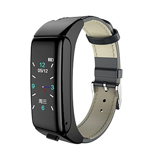 zyz Reloj Inteligente De Women Smart Watch Women's New Men's Women's with Bluetooth Call Street Rate Monitor Fitness Tracker,Negro