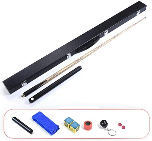 "WEHOLY Pool Cues, Leisure 57"" Snooker Black Eight Black 8 Weighted Billiard Bar Set Billiards Supplies Accessories Effective Moisture 9.8mm Tip Pool Cue"