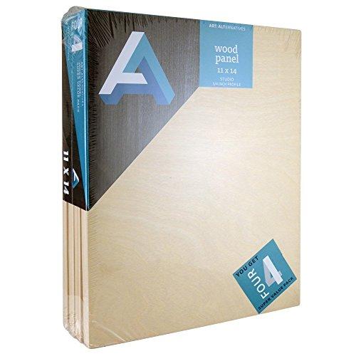 "ART ALTERNATIVES Wood Panel Value Pack 11"" x 14"""