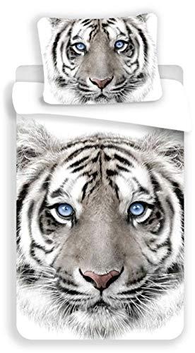Tigre Blanc Bettwäsche, Bettbezug aus Baumwolle
