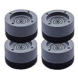 Lavadora Pies Anti vibración de la Lavadora Pies de Choque y de cancelación de Ruido Soporte Anti Slip-Mat para lavadoras y DryersGray 4PCS, Almohadilla Antideslizante
