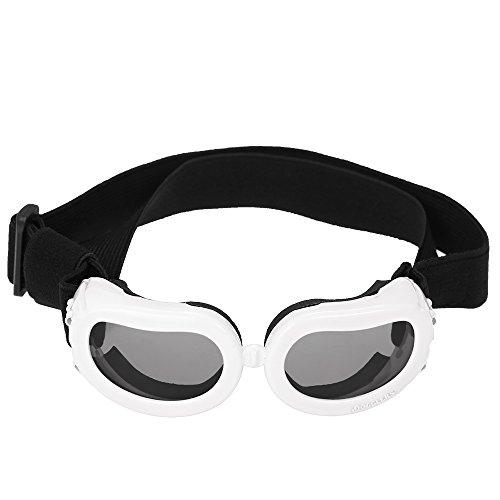 Anself Hundesonnenbrille Schutzbrille Goggles mit verstellbaren Trägern für Kleine Hunde