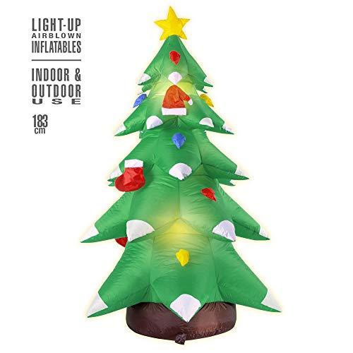 WIDMANN MILANO PARTY FASHION Albero di Natale Gonfiabile Luminoso 183 cm