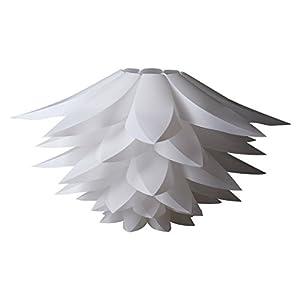 DIY Kit Lotus Chandelier IQ PP Pendant Lampshade Suspension Ceiling Pendant Chandelier Light Shade Lamp for Holiday,Living Room,Bedroom,Study,Dining Room Decor Lighting