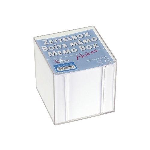 Brunnen 86-01 010 99 dispensador de papel para notas Plaza De plástico Transparente - Dispensadores de papel para notas (95 mm, 95 mm, 95 mm, 700 hojas)