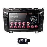 Radio de coche digital con pantalla táctil de 8 pulgadas, 2 Din estéreo en Dash para Honda CRV C-RV Soporte GPS Navegación Bluetooth DVD CD RDS Radio Steering Wheel Control USB Subwoofer AUX Cam-IN