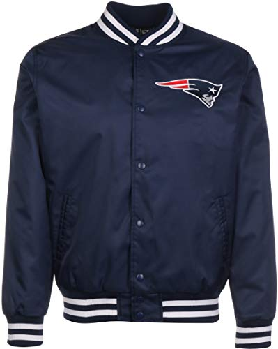 New Era - NFL New England Patriots Team Wordmark Bomber Jacke - Blau Größe S, Farbe Blau