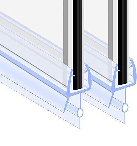 GOLDGE Guarnizione per Porta Doccia, 2PCS 100cm Guarnizione Doccia Sottoporta, Design Rotondo Piccolo più Forte a Prova di Perdite Addensato Guarnizioni Box per Uno Spessore di Vetro di 5-6 mm