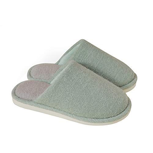 Footwear La Sra Zapatillas algodón Zapatillas de Interior, Zapatillas de casa para Hombre Suelas Antideslizantes engrosadas de EVA, Pelusa Zapatillas Calientes de Invierno