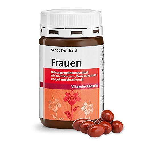 Sanct Bernhard Frauen-Vitamin-Kapseln mit Nachtkerzenöl, Vitamin E, B, Biotin, Folsäure 60 Kapseln