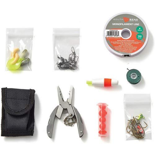 OFF GRID TOOLS Fishing & Hunting Mini Kit, 45 Pieces – Outdoor Pocket Survival Kit, Resealable Waterproof Bag, Tactical Gear & Accessories