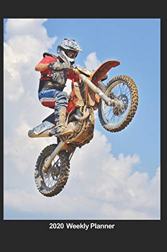 Plan On It 2020 Weekly Calendar Planner - Flying High - Motor Cross Dirt Bike - Extreme Sports: January 2020 thru March 2021 15 Month Dated Agenda Notebook