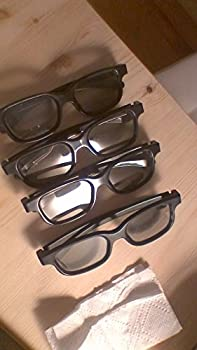 eDimensional Real-D Circular Polarized 3D Glasses for Passive 3D Televisions 4 Pairs