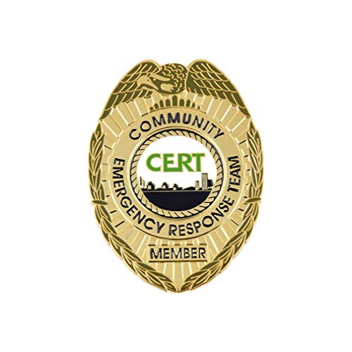 911 Market CERT Badge Gold Community Emergency Response Team Solid Metal US FEMA - G 41
