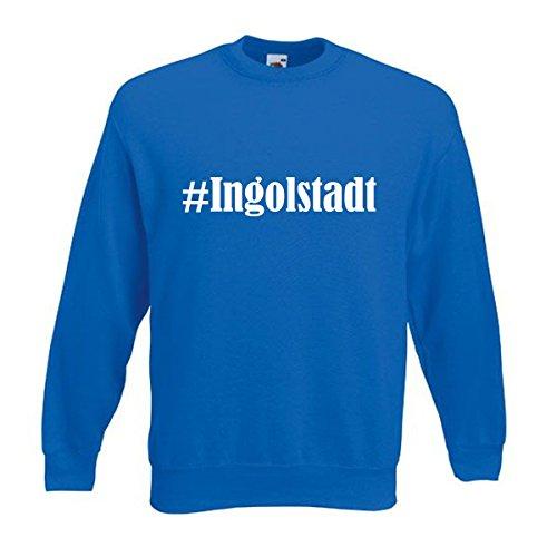 Reifen-Markt Sweatshirt Damen #Ingolstadt Größe M Farbe Blau Druck Weiss