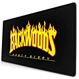 Back-Woods Large Gaming Mouse Pad, Thick Extended Computer Keyboard Mousepad Mouse Mat, Non-Slip Base, Durable Stitched Edges, Ideal for Desk Cover 75X40 cm