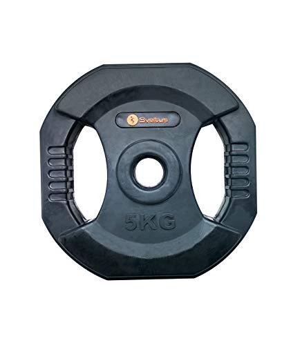 Sveltus - Disco Pump con Asas (5 kg), Color Negro, Talla única