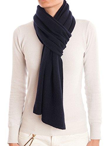 DALLE PIANE CASHMERE - Schal aus 100% Kaschmir - für Mann/Frau, Farbe: Blau, Einheitsgröße