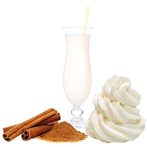 Sahne Zimt Geschmack Eiweißpulver Milch Proteinpulver Whey Protein Eiweiß L-Carnitin angereichert Eiweißkonzentrat für Proteinshakes Eiweißshakes Aspartamfrei (200 g)