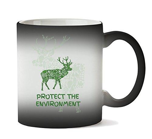 MugWorld Save Protect The Environment Green Movement Respect Animals Nature Taza Calor Cambio De Color