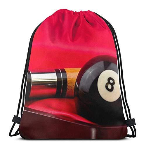 AOOEDM Pool Anyone Sport Sackpack Mochila con cordón Bolsa de gimnasio Saco