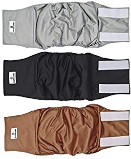 Sponsored Ad - Pet Parents Premium Washable Dog Belly Bands (3pack) of Male Dog Diapers, Dog Marking Male Dog Wraps, High ...