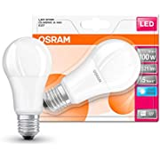 Osram LED Star Classic A Lampe, in Kolbenform mit E27-Sockel, nicht dimmbar, Ersetzt 100 Watt, Matt, Kaltweiß - 4000 Kelvin, 14 W, 1er-Pack