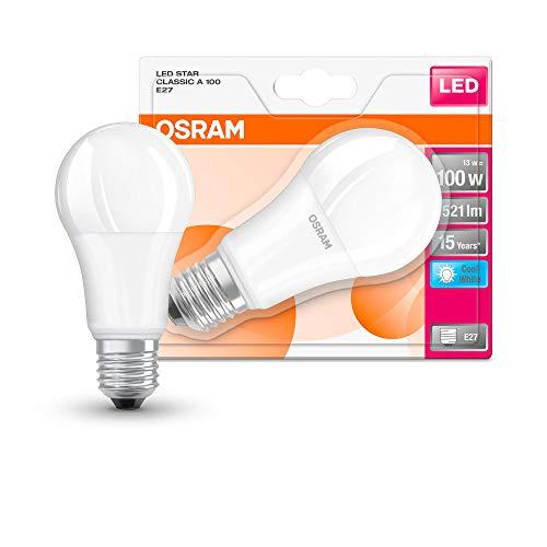 Osram Star Classic A Lampadina LED, E27, Plastica, Smerigliata, 100 W, Confezione Singola, standard