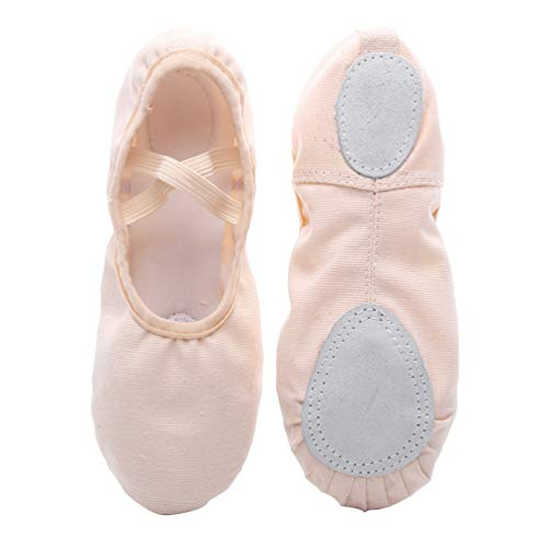 Healifty 1 Paio di Scarpe da Balletto in Tela Scarpette da Yoga con Suola Piena Scarpe da Yoga per Ballare per Bambina Bambino Donna Donna Taglia 24