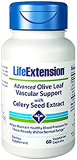 Advanced Olive Leaf Vascular Support with Celery Seed Extract 60 Vegetarian Capsules-Pack-3