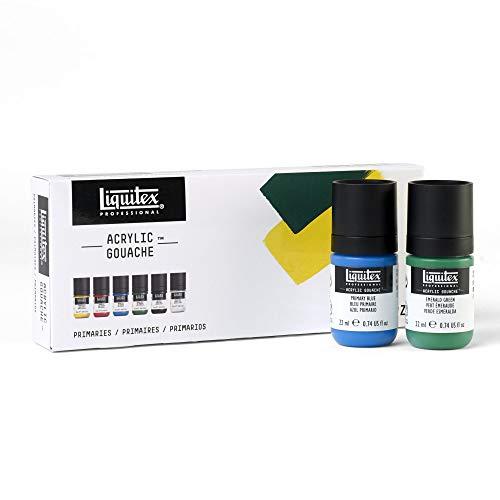 Liquitex Professional Acrylic Gouache Paint Set, Primaries 22ml