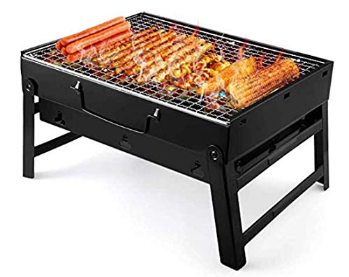 ELLIS SCHOFIELD Charcoal Grill Barbecue Portable BBQ  Stainless Steel Folding Grill Tabletop Outdoor Smoker BBQ for Picnic Garden Terrace Camping Travel Small 1535#039#039x1141#039#039x295#039#039