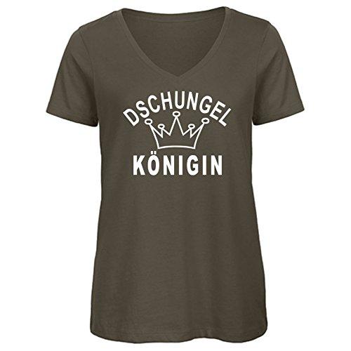 Damen T-Shirt DSCHUNGELKÖNIGIN Army L