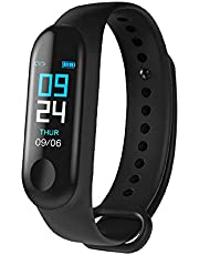 SHOPTOSHOP SM3 Heart Rate Monitor with Activity Fitness Tracker Waterproof Body Functions Like Steps and Calorie Counter, Blood Pressure, LED Touchscreen Smart Band Watch