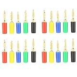Omabeta 20 Piezas 2mm 5 Colores Conector Banana Jack Amplificador de latón Conector Banana Altavoz Conector Banana