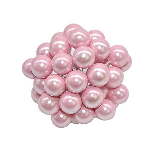 LUCHAO 50pcs Mini Beeren Kunststoff gefälschte Obst Kleine künstliche Perlen-Blumen-Staubblätter Kirsche Hochzeit DIY Geschenkkarton verzierte Weihnachtskränze (Farbe : F06)
