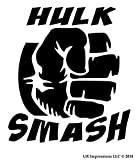 UR Impressions Hulk Smash Aufkleber, Vinyl, für Autos, LKW, SUV, Vans, Wände, Laptop, 14 x 13 cm URI586-MB