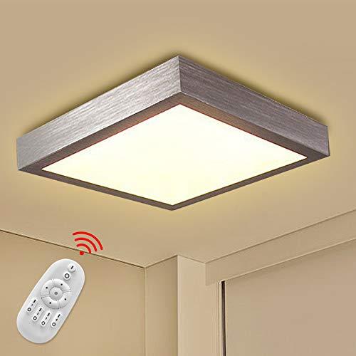 Froadp 16W LED Panel Quadrat Dimmbar Moderne Deckenlampe Wandlampe Energiespar Deckenleuchte für Wohnzimmer Korridor Bad und Decke Schlafzimmer Silber Küche Licht [Energieklasse A++]