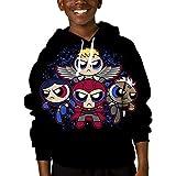 Mmm fight Youth Tops Hooded Powerpuff Hoodies Novelty Sweatshirt for Kids/Boys/Girls