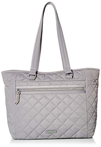 Vera Bradley Women's Performance Twill Work Tote Bag, Tranquil Gray, One Size