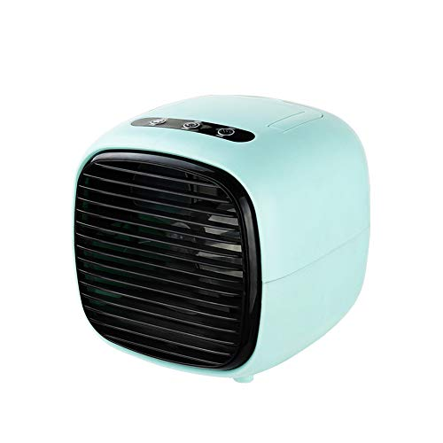 CAMPERS Air Cooler, USB Portable Cooling Air Conditioner, 3 in 1 Mini Mobile Personal Space Cool Air Ultra, Humidifier, Purifier and Release negative ions, Desktop Cooling Fan for Office,blue