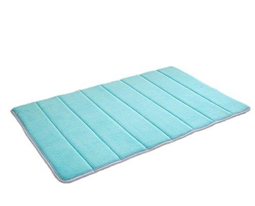 Kentop - Alfombrilla de baño (espuma viscoelástica, absorbente, antideslizante, 40 x 60 cm), color azul