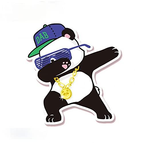 GDYL Etiquetas Engomadas del Coche Hip-Pop Panda Animales Calcomanía Divertida Pegatinas De Equipaje Pegatina De Coche Decoración Motocicleta Todoterreno Portátil PVC Pegatina De Vinilo