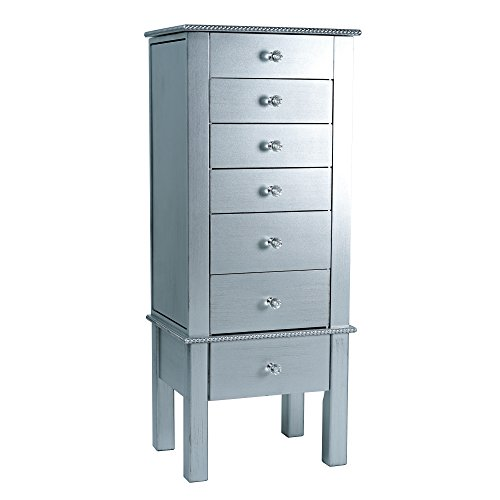Hives and Honey Crystal Jewelry Armoire, Silver