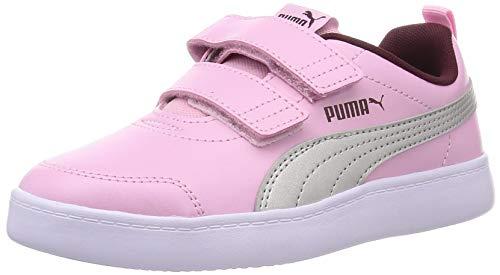 Puma Courtflex V2 V Ps, Zapatillas Unisex Niños, Color Rosa Pálido, 34 Eu