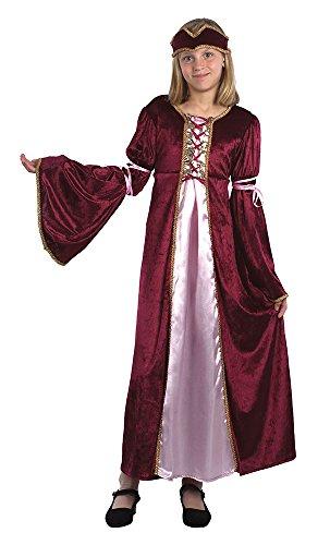 Bristol Novelty CC544 Traje Princesa del Renacimiento, Mediano, Edad aprox 5 - 7 aos