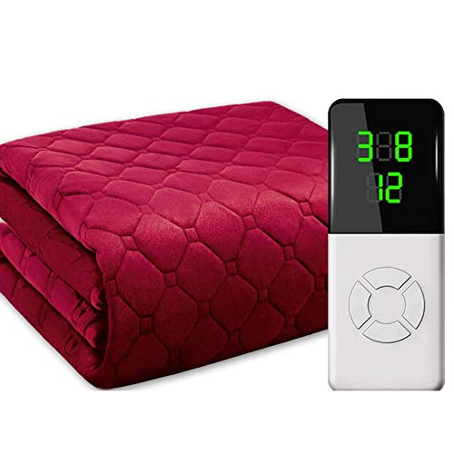 Crystal Velvet Heizdecke, Super Soft Heat Pad Electric, zeitgesteuertes Ausschalten mit doppelter Steuerung, Doppelbett...