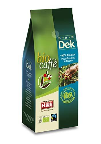 Caffè Haiti Roma Biocaffè Bar Dek 100% Arabica 100% Bio 100% Fairtrade entkoffeinierte Kaffeebohnen 500 g