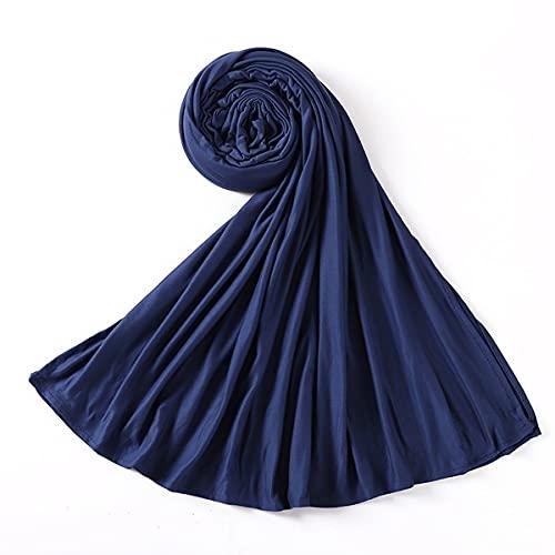 Bufanda Mujer Pañuelo Fulares Bandanas Ligero para Damas Cabello Cabeza Cuello Decoración,15,E