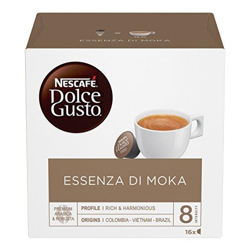 Nescafé Dolce Gusto Essenza di Moka, Caffè Espresso 3 Confezioni da 16 Capsule, 48 Capsule